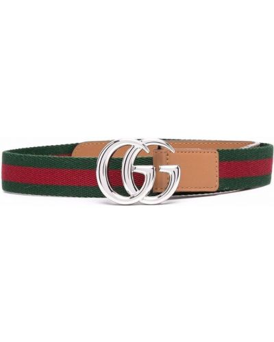 Zielony pasek skórzany Gucci Kids