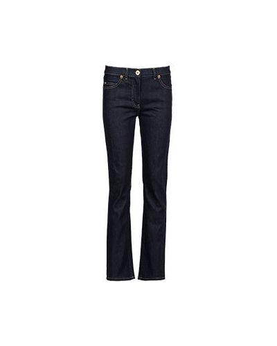 Прямые джинсы расклешенные синие Versace