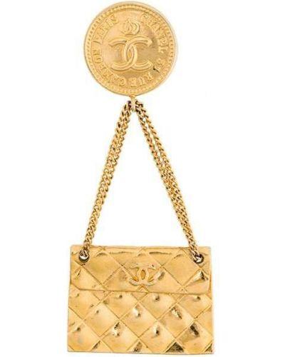 Брошь винтажная желтый Chanel Vintage