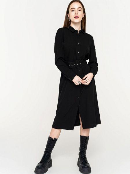 Черное платье-рубашка Befree