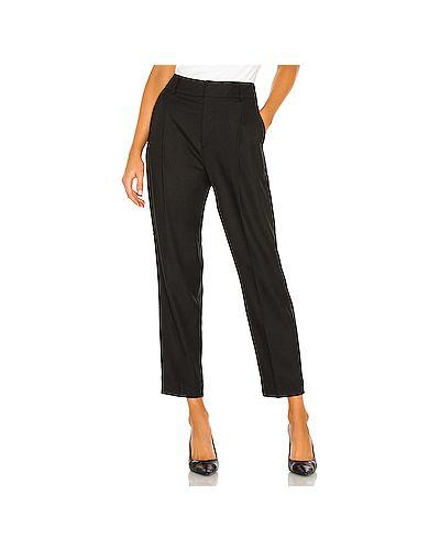 Плиссированные черные брюки с карманами из вискозы Anine Bing