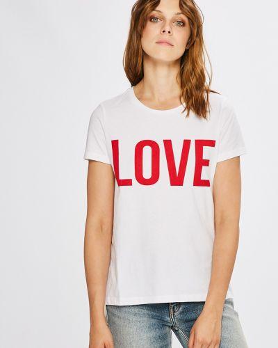 Белая футболка прямая Only