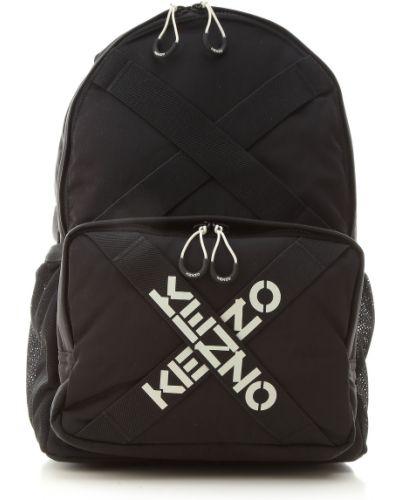 Czarny plecak z nylonu Kenzo