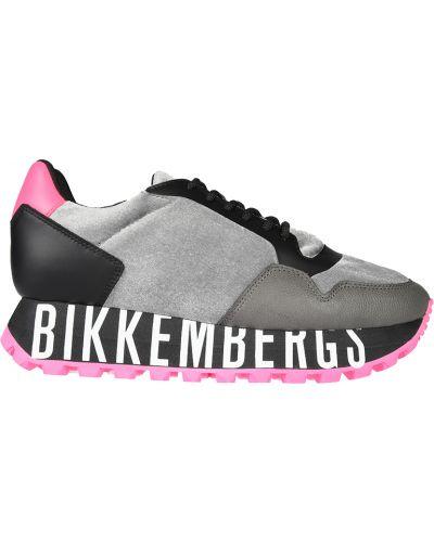 Кожаные кроссовки - серые Bikkembergs