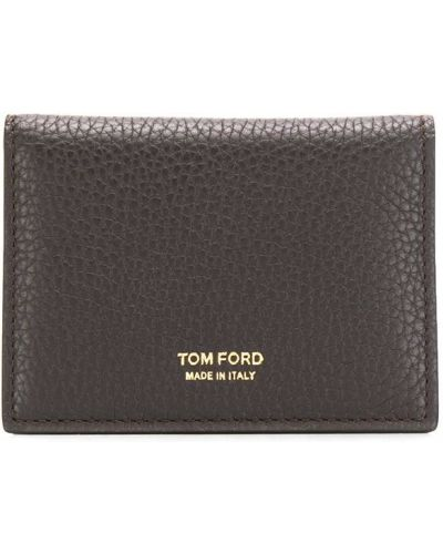 Кошелек кожаный темно-коричневый Tom Ford