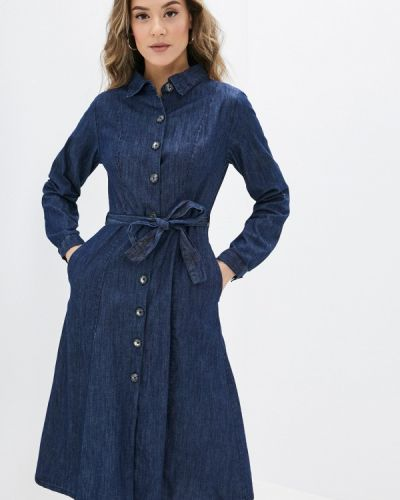 Джинсовое платье - синее Yumi