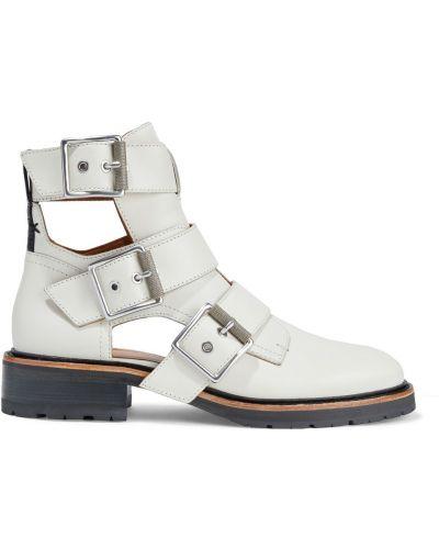 Ankle boots skorzane na obcasie kaskadowe Rag & Bone