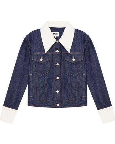Джинсовая куртка на пуговицах с карманами Mm6 Maison Margiela