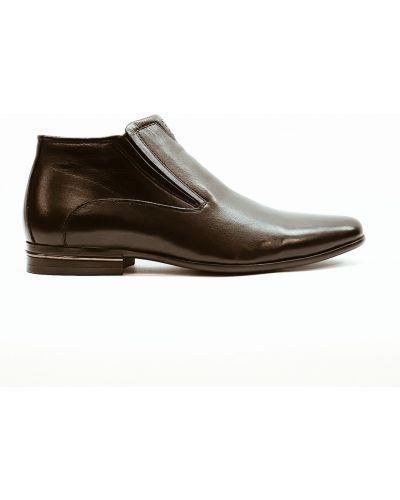 Кожаные туфли - черные Basconi