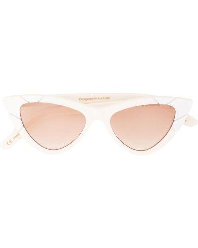 Солнцезащитные очки кошачий глаз белый Pared Eyewear