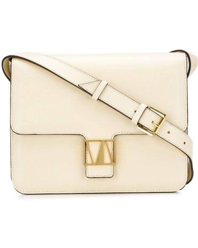 Золотистая желтая сумка на плечо металлическая Manu Atelier