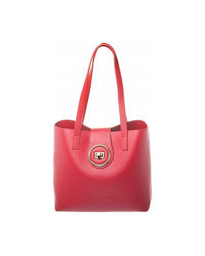 Кожаная красная сумка шоппер Renee Kler