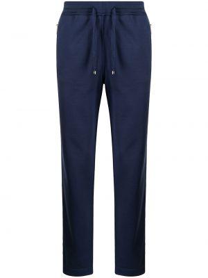 Шелковые синие брюки с накладными карманами Stefano Ricci