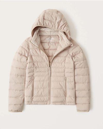 Куртка на молнии - бежевая Abercrombie & Fitch