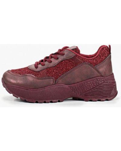 Кожаные кроссовки - бордовые Dino Albat
