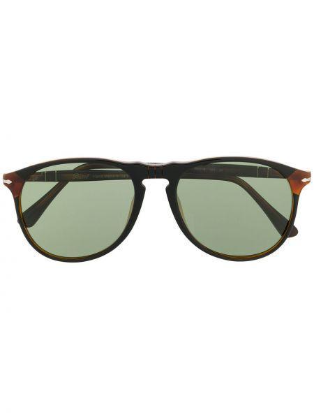 Прямые солнцезащитные очки круглые хаки с завязками Persol