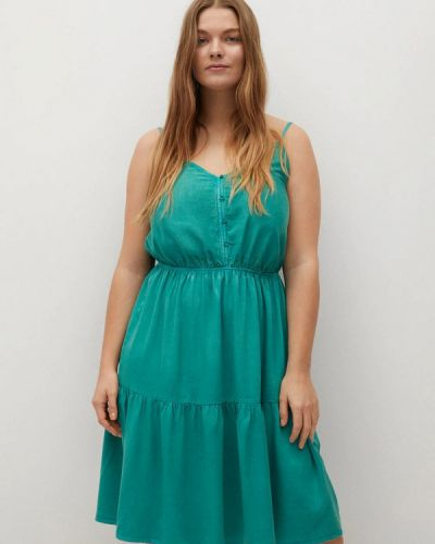 Сарафан - зеленое Violeta By Mango