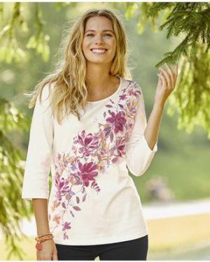 Блузка с рукавом 3/4 с цветочным принтом Atlas For Men