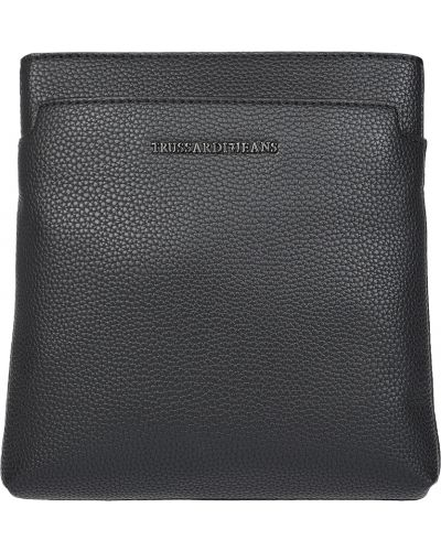 Кожаная сумка текстильная с отделениями Trussardi Jeans