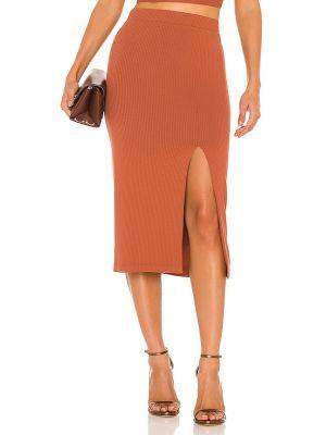 Оранжевая трикотажная юбка Krisa