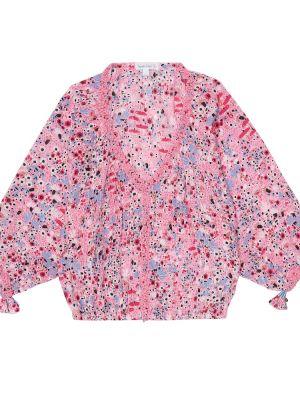 Różowy bluzka z wiskozy Poupette St Barth Kids