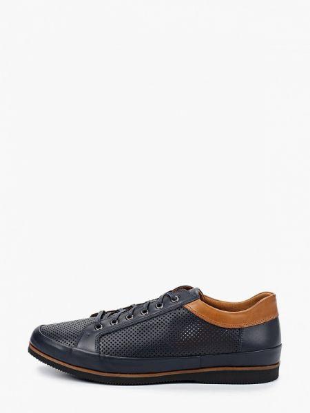 Кожаные синие кроссовки Wojas