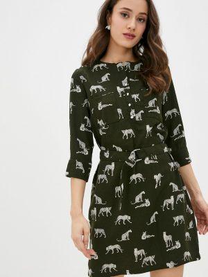 Повседневное зеленое платье Zolla