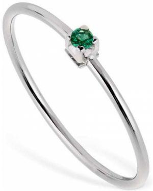 Biały złoty pierścionek szmaragd Vanzi