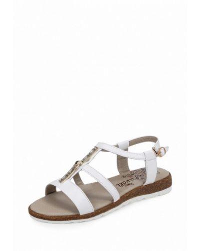 Белые сандалии на каблуке Frivoli