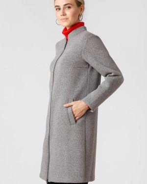 Серое пальто из вискозы Finn Flare