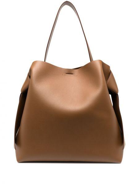 Кожаная сумка - коричневая Acne Studios