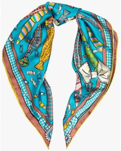 Голубой платок итальянский Eleganzza