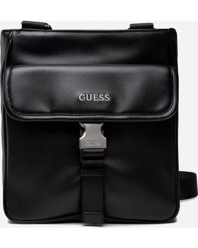 Сумка с карманами - черная Guess