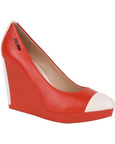 Туфли на каблуке на танкетке на платформе Calvin Klein