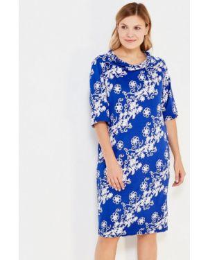 Летнее платье осеннее синее Sparada