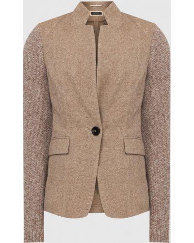 Шерстяной пиджак - бежевый Peserico