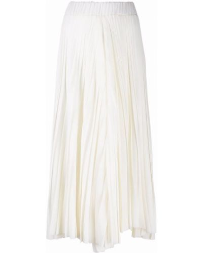 Białe spodnie wełniane Dusan