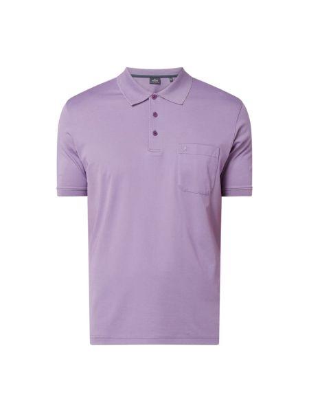 T-shirt bawełniana - fioletowa Ragman