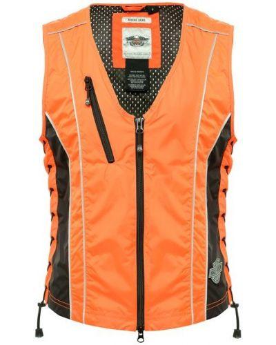 Оранжевая жилетка с карманами на молнии Harley Davidson