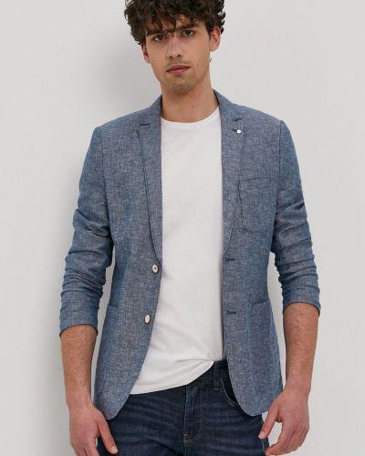 Niebieski garnitur bawełniany zapinane na guziki Tom Tailor