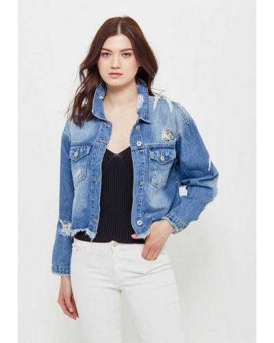 Джинсовая куртка весенняя синий Jean Louis Francois