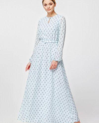 Вечернее платье весеннее бирюзовый Nai Lu-na By Anastasia Ivanova