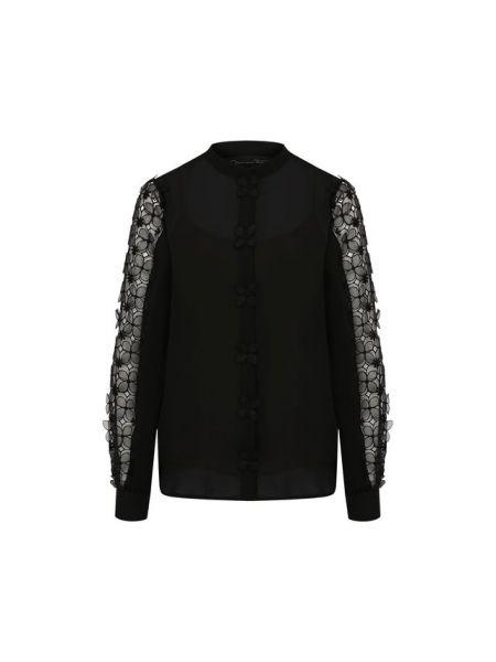 Блузка прозрачная шелковая Oscar De La Renta