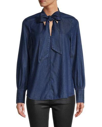 Хлопковая синяя джинсовая рубашка с длинными рукавами Kate Spade New York