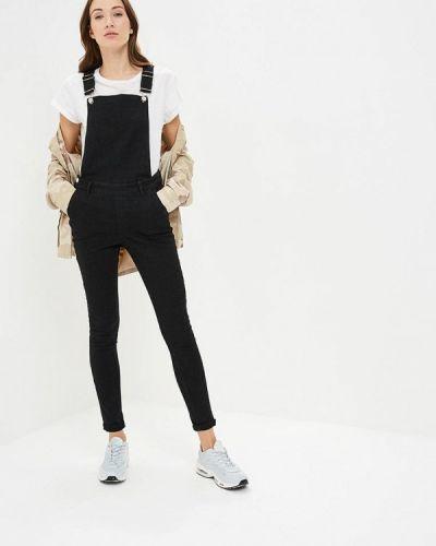 Черный джинсовый комбинезон Noisy May