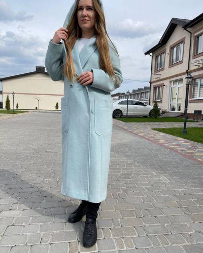 Пальто - голубое Albanto