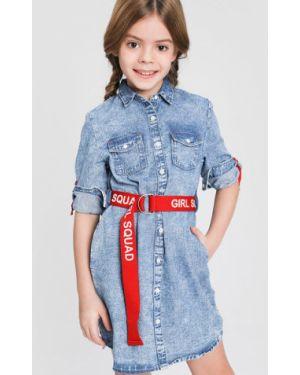 Платье с рукавами джинсовое на пуговицах Ostin