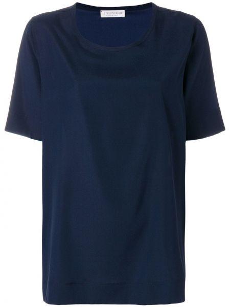Шелковая блузка - синяя Le Tricot Perugia