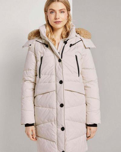 Утепленная бежевая куртка Tom Tailor