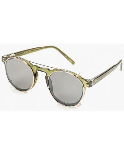 Солнцезащитные очки круглые зеленый Mango Man